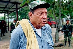 Pedro Antonio Marin, também conhecido como Manuel Marulanda, é o mais antigo líder das Farc