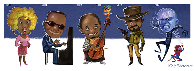 Evolution of Jaime Foxx final